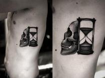 tattoo-dotwork-side-skull-clepsydra