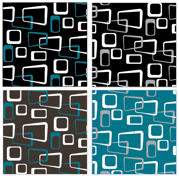 1950s style pattern variations.