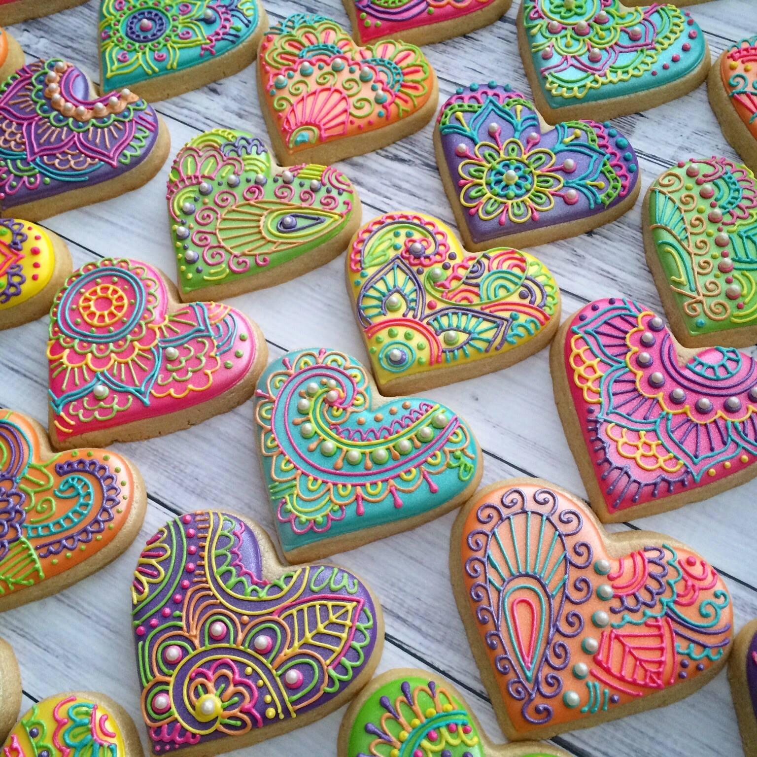 Henna-art-cookies