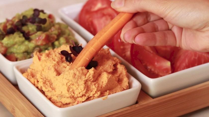 Hummus cu ardei copt