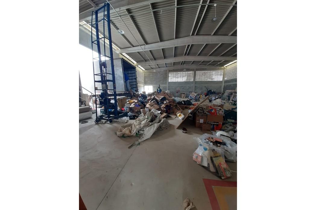 SustentaMundoBR Parahyba - Galpão da ASTREC - Associação dos Trabalhadores de Reciclagem de Cabedelo - materiais enviados pelos condomínios