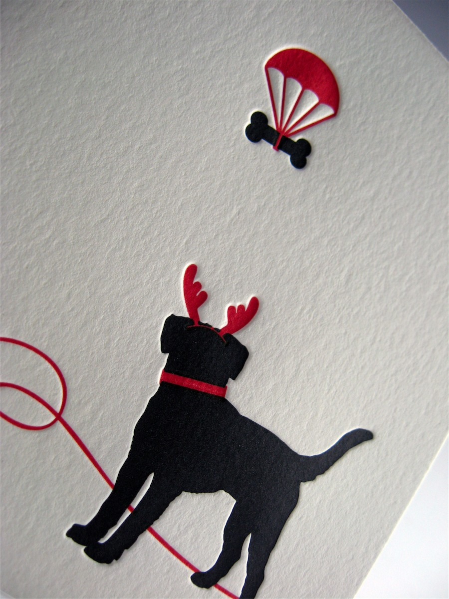 Black Lab Holiday Card Dolce Press