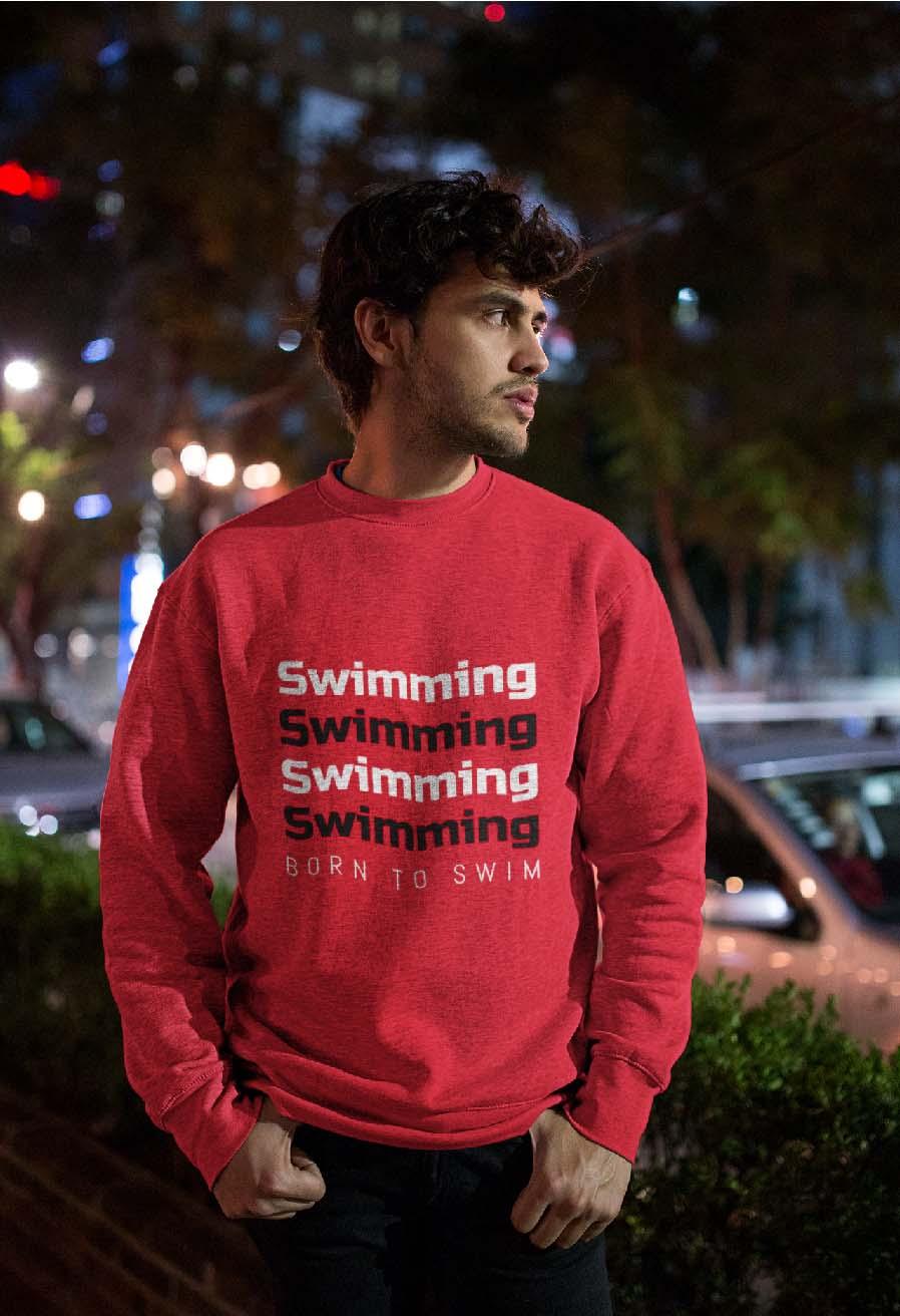 felpa ragazzo swimming