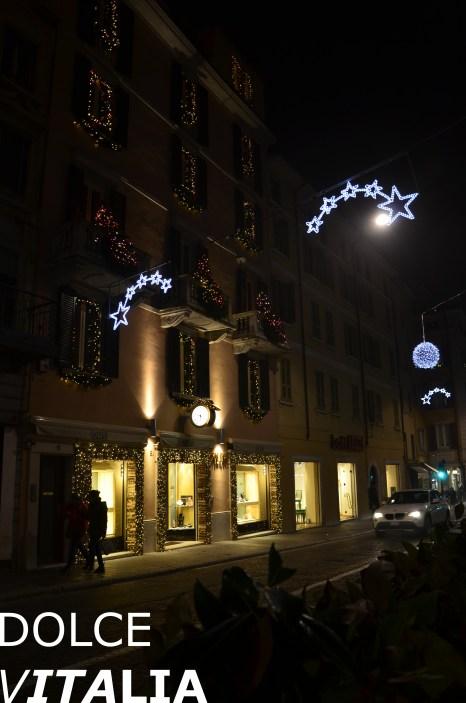 Christmas decoration in Via Mazzini
