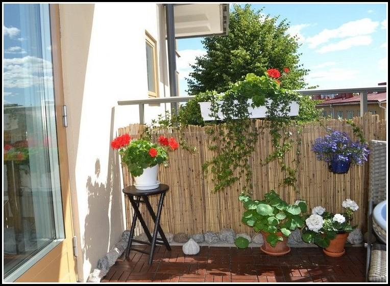 Bambus Sichtschutz Balkon Befestigen