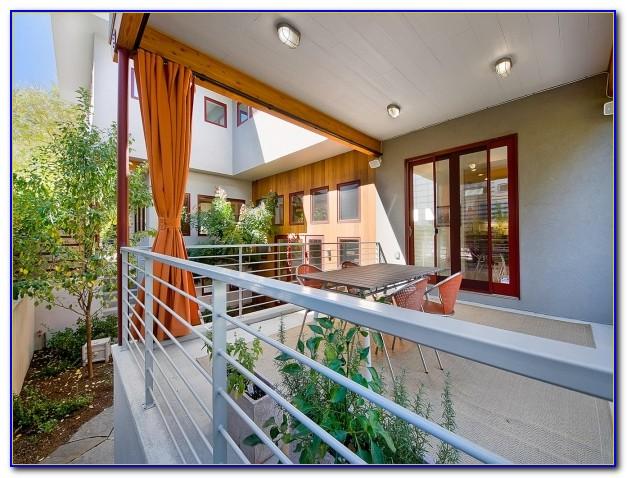 Bambusvorhang Balkon