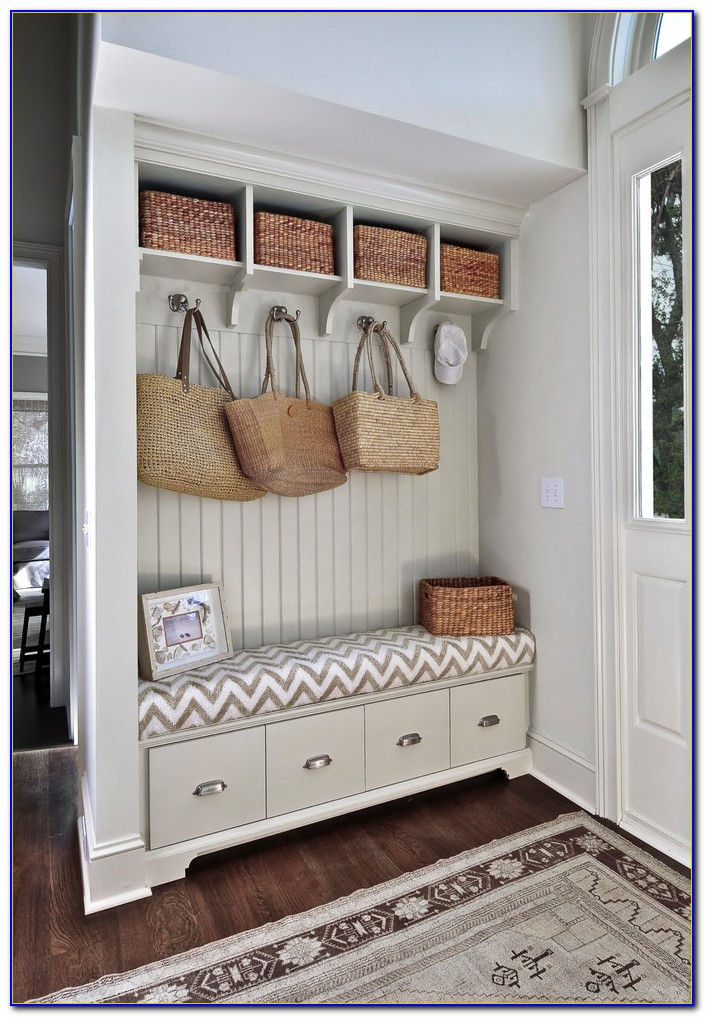 Entryway Bench With 4 Baskets