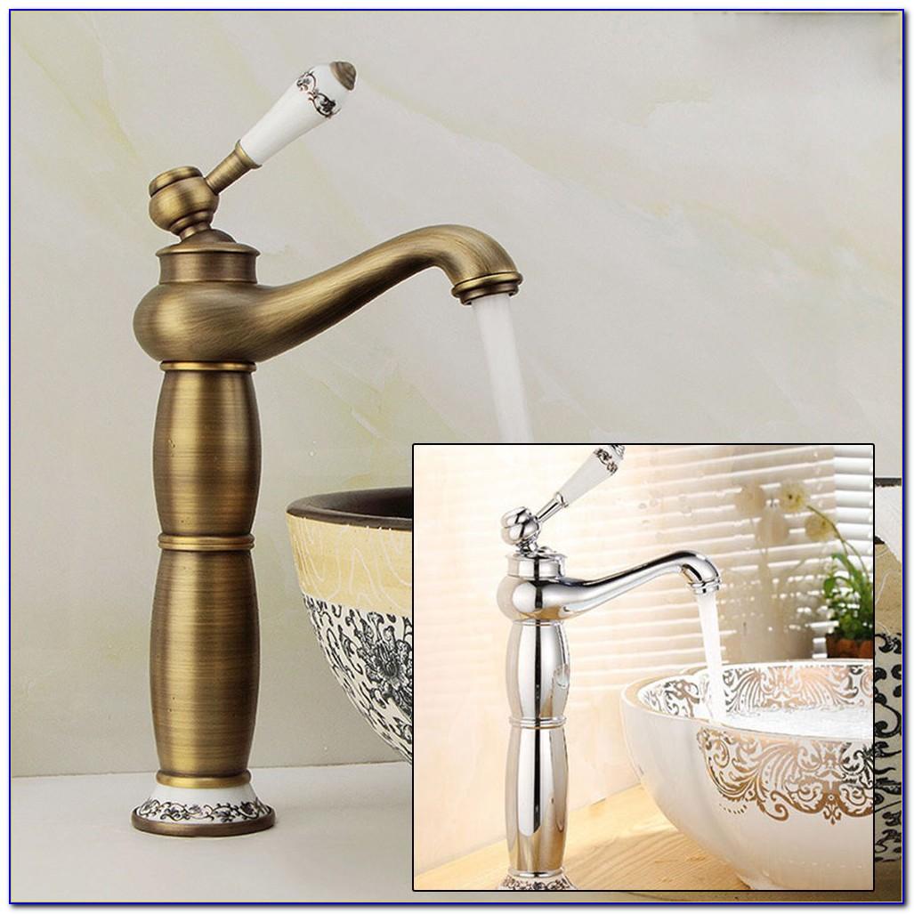 Retro Wasserhahn Gold