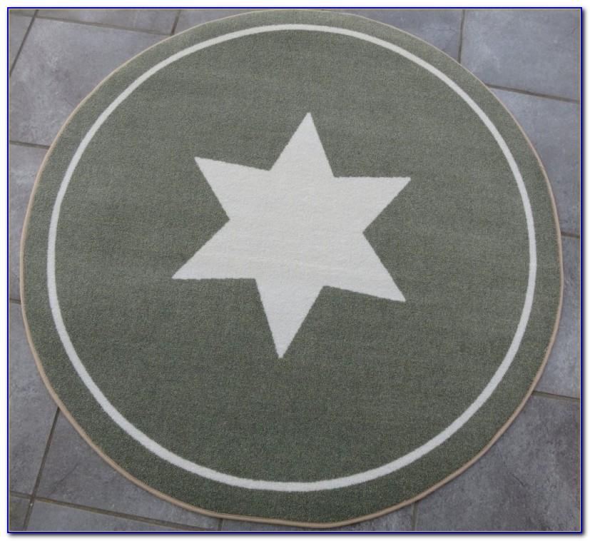 Runder Grauer Teppich