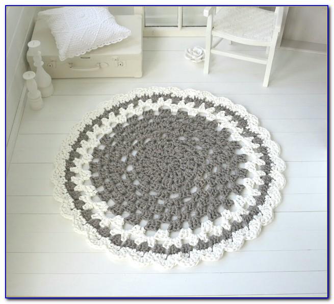 Runder Teppich Grau