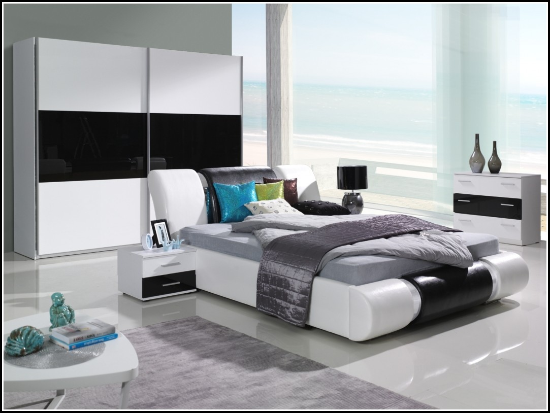 Schlafzimmer Komplett Schwarz Hochglanz