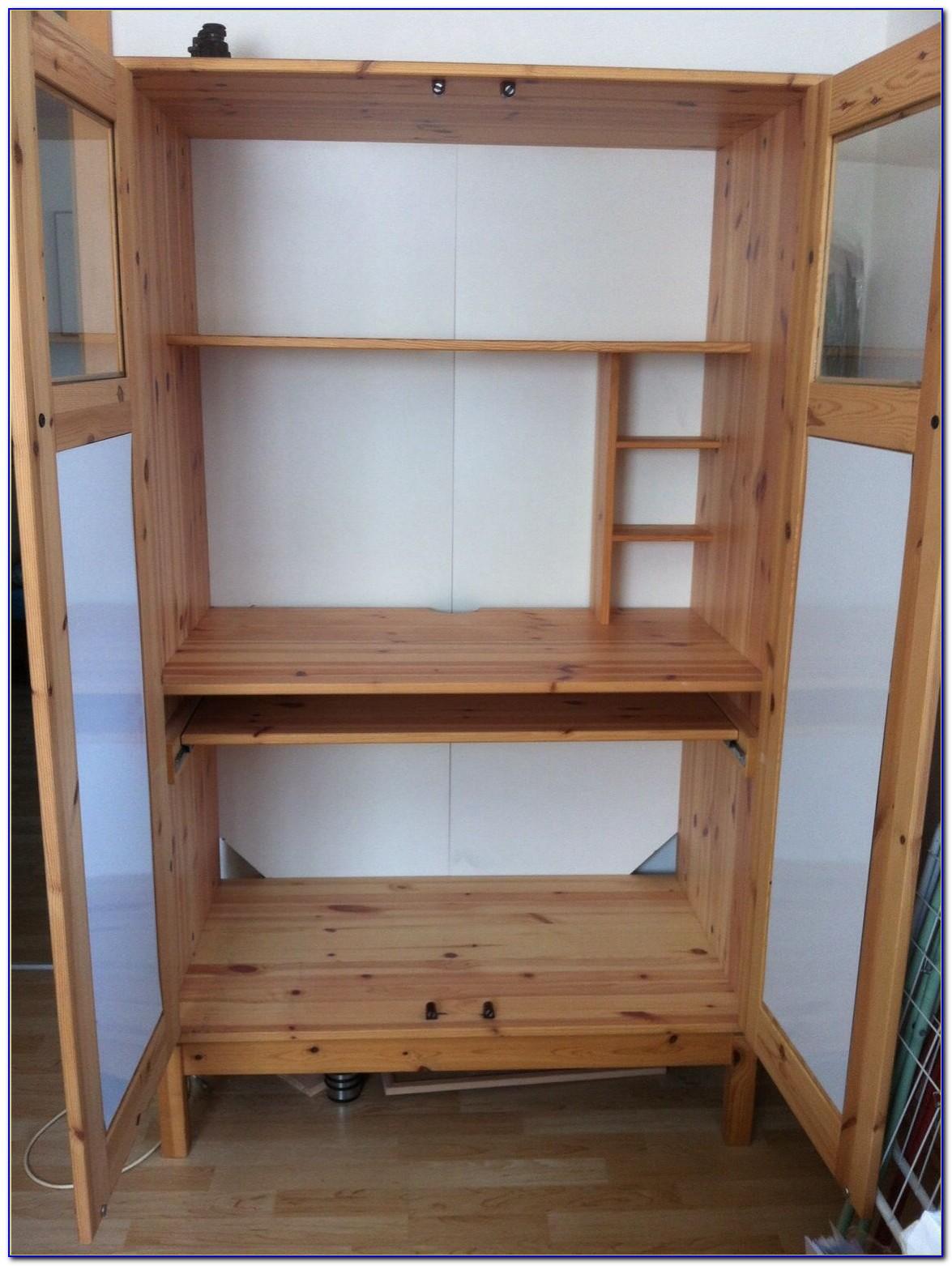 Schreibtisch Schrank Holz