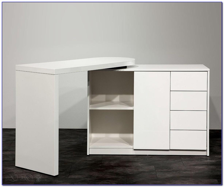 Schreibtisch Schrank Weiß