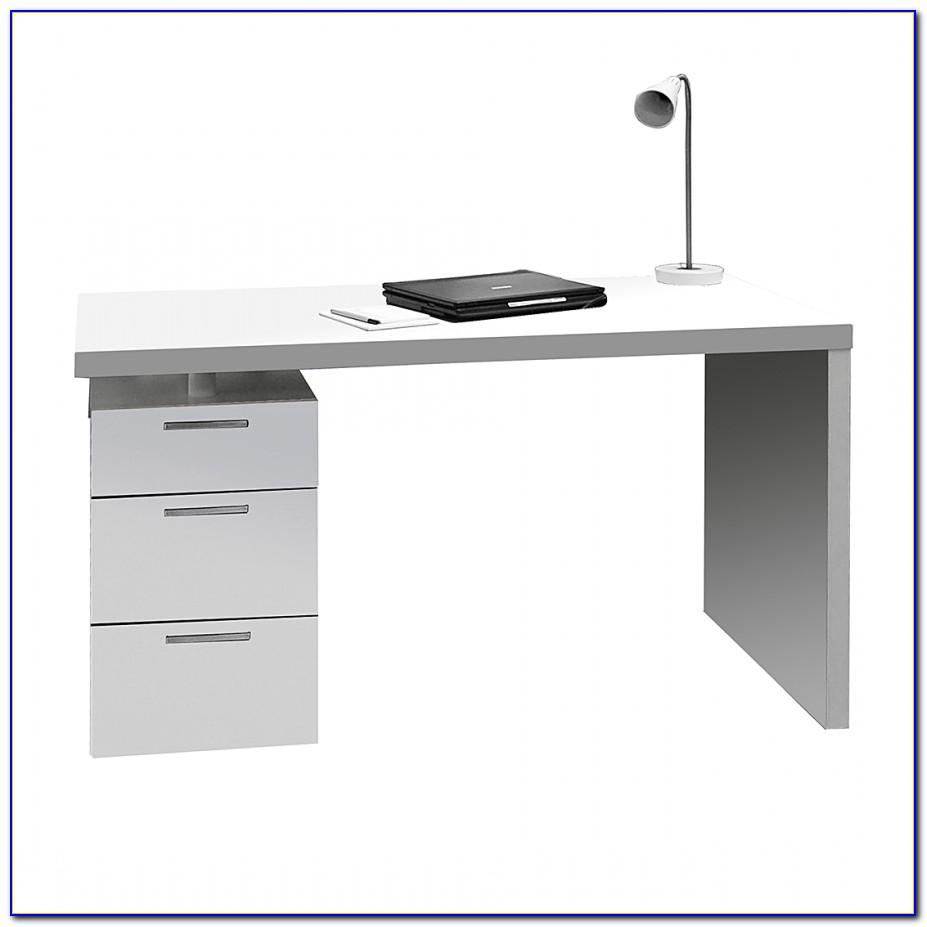 Schreibtisch Weiß Hochglanz 120