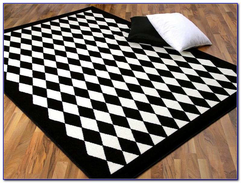 Schwarz Weiß Teppich