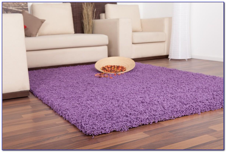 Teppich Hochflor Lila
