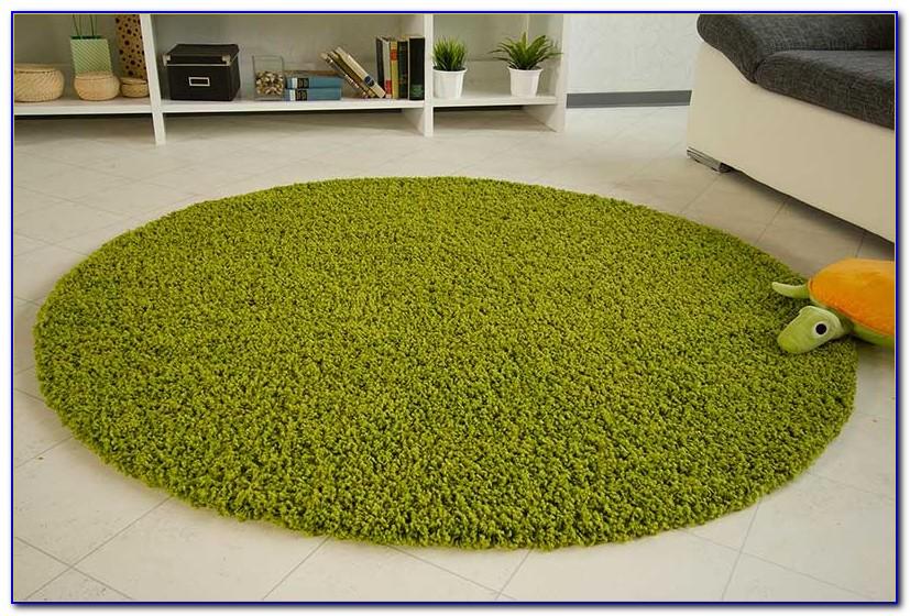 Teppich Rund Grün 200