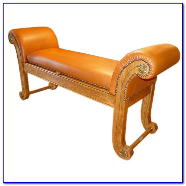 Upholstered Bench With Rolled Arms Uk