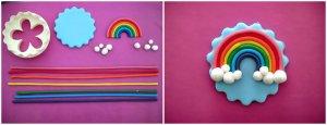 Collage tutorial cupcake arcobaleno