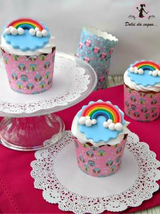 cupcake con arcobaleno
