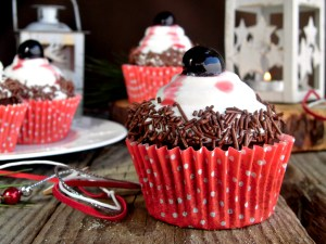 Christmas chocolate cupcakes