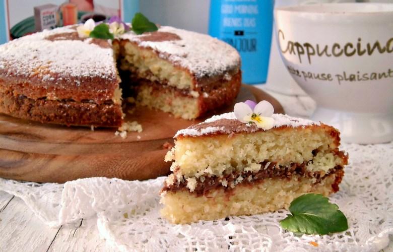 torta al cocco farcita con nutella