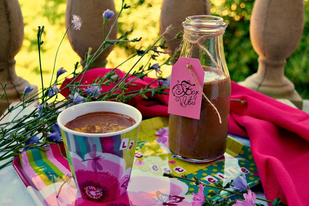 Smoothie con banana cacao e caffè