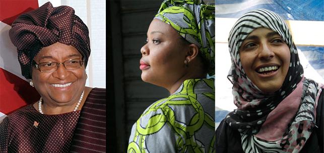 2 mulheres negras e 1 mulher islamica ganham o Premio Nobel da Paz 2011