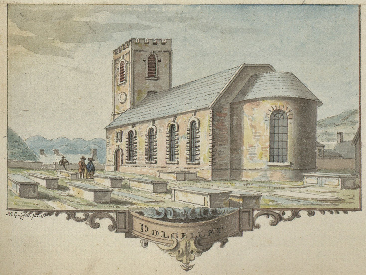 St. Marys Church Watercolour by Moses Griffiths c.1781