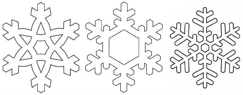 Plantilla copos de nieve