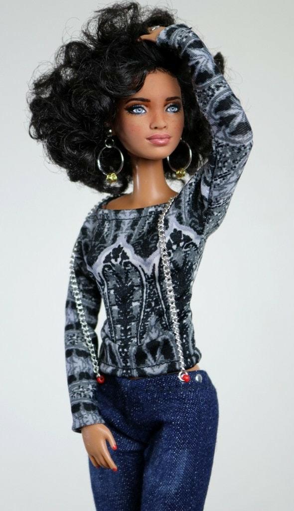 Zuri- Customized HYBRID OOAK MBILI on a Pool Chic Barbie ...