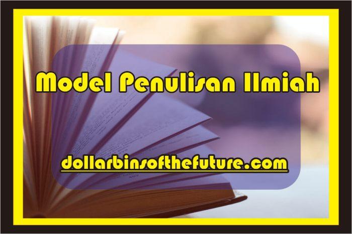 Contoh Artikel Ilmiah Model Penulisan Ilmiah