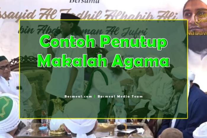Contoh Penutup Makalah Singkat Agama - Bosmeal.com