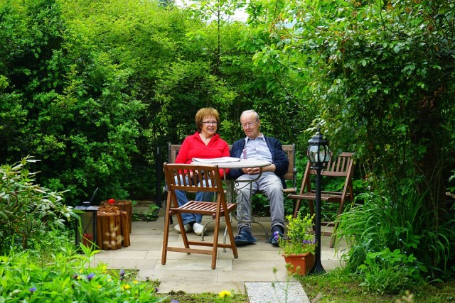 Couple Aged Man and Woman with 702j Retirement Plan