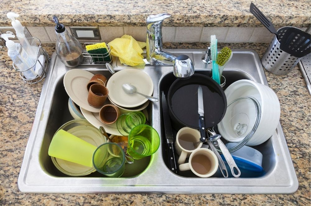 Pile of dirty dishes: Reasons you can't keep your house clean