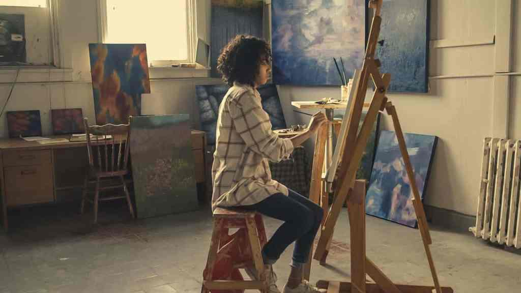 woman painting