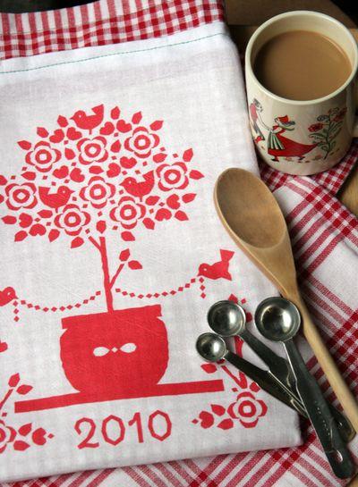 Printable tea towel calendar