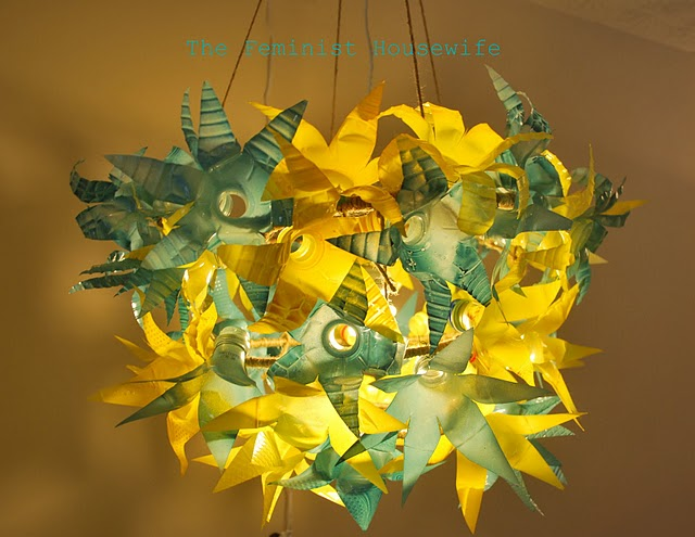 This Chandelier Is Made Of 50 Plastic Water Bottles Caroline At The Feminist Housewife Posted It Over Weekend Was Her Recent Entry In So You Think