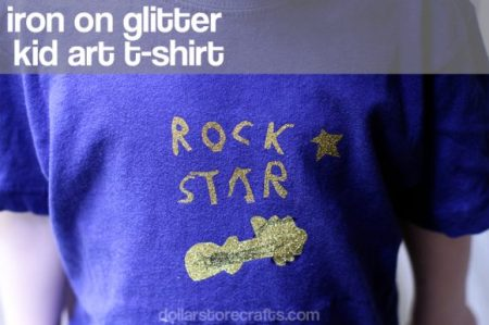 iron on kid art tshirt