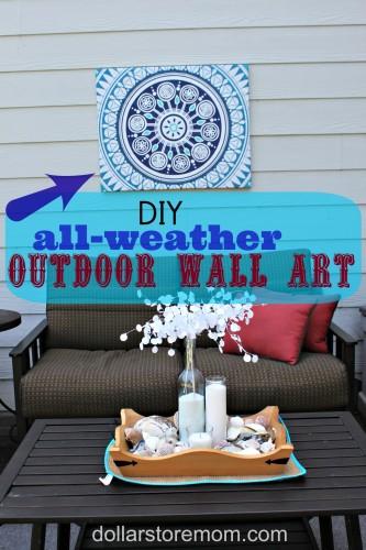 make outdoor wall art from a shower