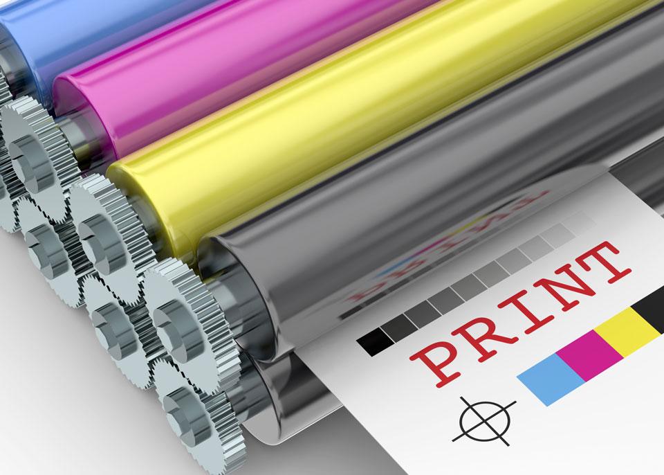 Web press printing rollers