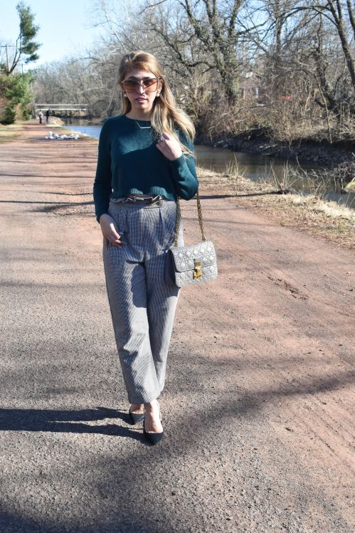 spring trends and plaid trousers