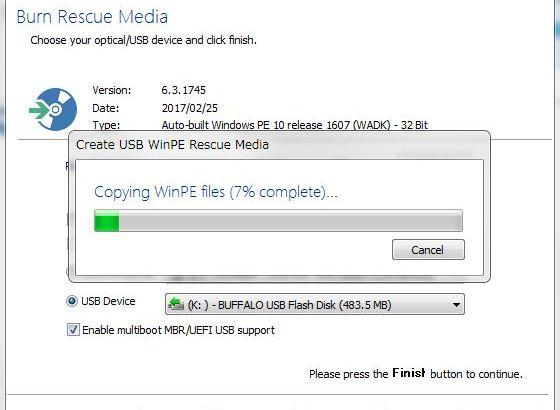 起動USB作成が簡単な無料バックアップソフト -Macrium Reflect free-