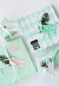 mint green packages