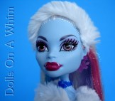 Mattel Monster High doll Abbey Abby Bominable School Outfit face makeup
