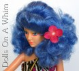 Hasbro Jem and the Holograms doll Stormer of the Misfits blue hair face makeup head flower 3