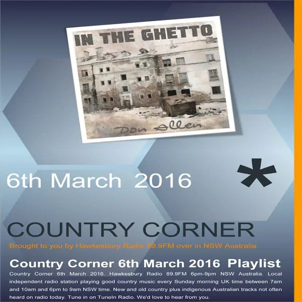 Country Corner 6th March 2016