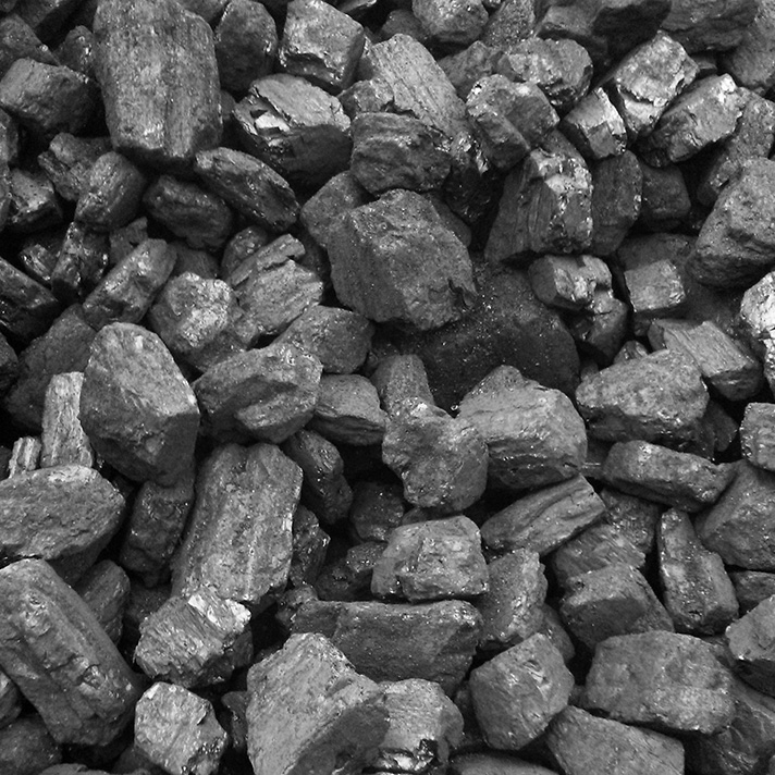 small-sized cobbles of coal