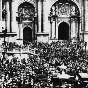 Aspecto de la Plaza del Obispo en la Consagración del Obispo, 26 de Mayo de 1930