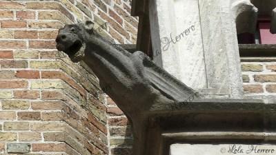 Gárgola de la Calle Wollestraat de Brujas (Bélgica)